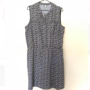Merona // EUC black and white shirt dress